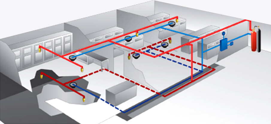 Server Room Data Centre Fire Schematic Diagram